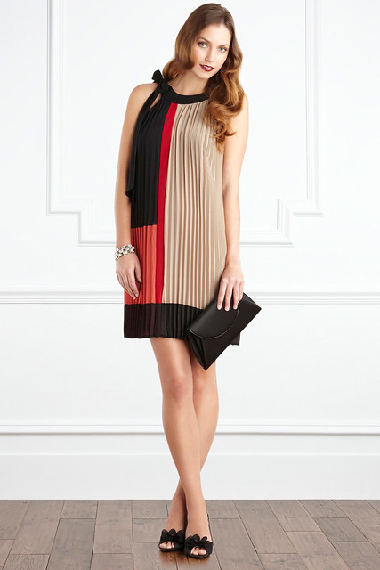 zaria colour block dress