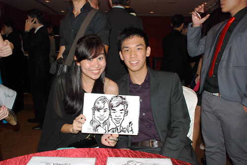 Caricature live sketching for Serangoon Junior College Prom Night - 3