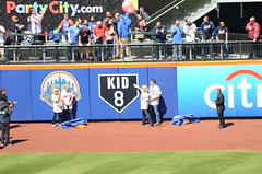Unveiling of Gary Carter Outfield Tribute by the Carter Family