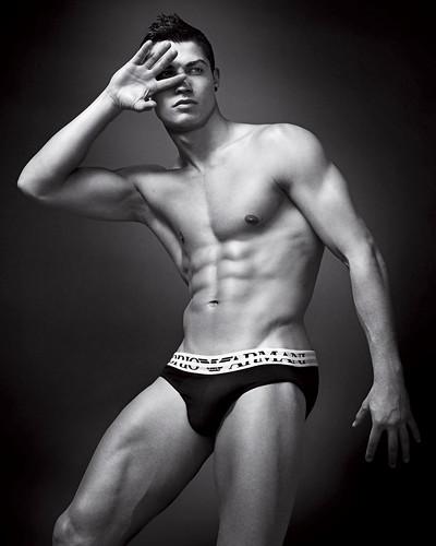 Cristiano Ronaldo naked in Emporio Armani underwear campaign by Enrique_L.
