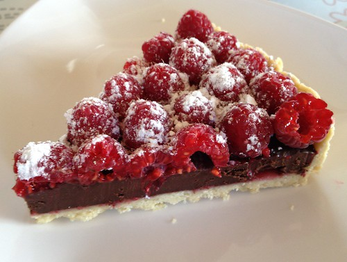 Chocolate-Raspberry Pie for Easter