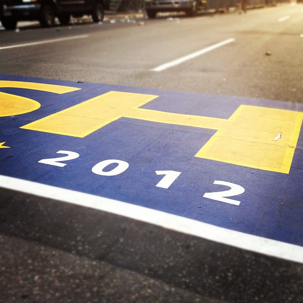 Another year in Boston. Congrats runners! #marathonmonday