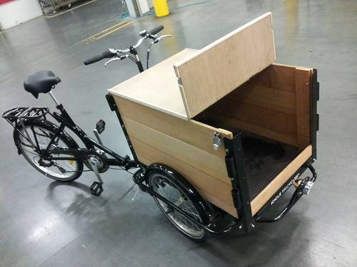 Custom cedar Icicle Tricycle Cargo Bike for Vending by portlandpedalworks