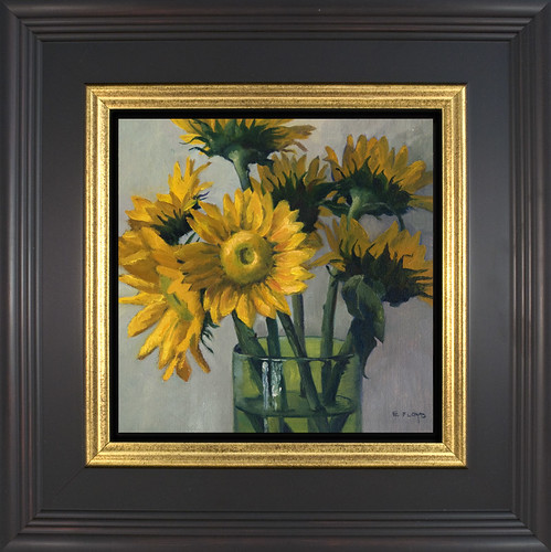 Sunflowers - framed