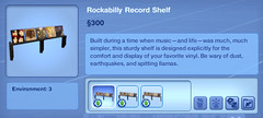 Rockability Record Shelf