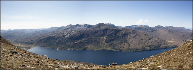 Beinn Eighe and Loch Maree Panorama