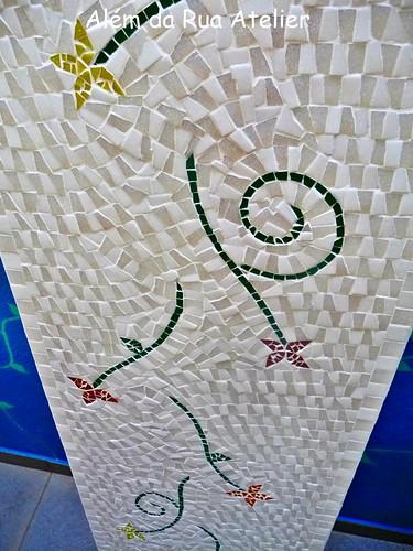 Bancada de cozinha, em mosaico
