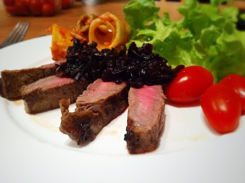 Porterhouse Steak with Beetroot Relish by mjd-s