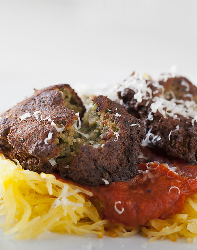 "Meatless Mondays - Spaghetti Squash and Lentil ""Meatballs"""