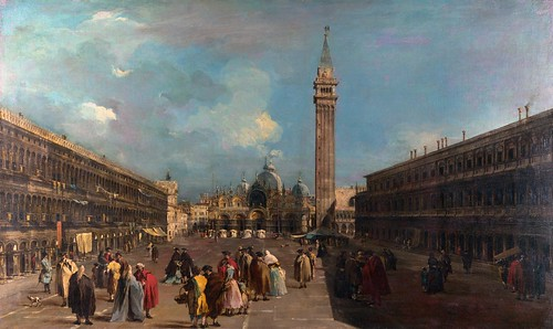 Francesco Guardi - Venice: Piazza San Marco [c.1760] by Gandalf's Gallery