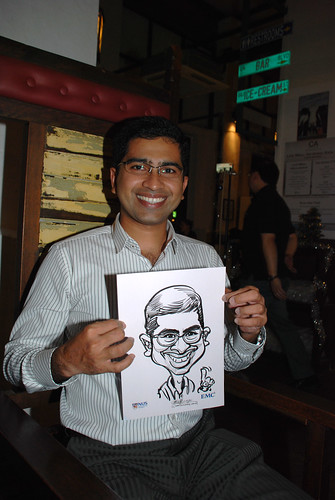 caricature live sketching for emc NUS - 14