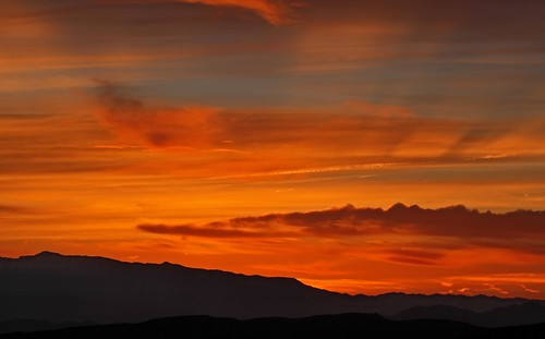 Sunrise over the Resting Spring Range and the Amargosa Valley