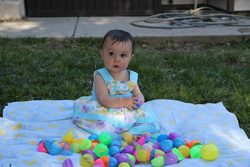 The Easter baby in her Easter dress!