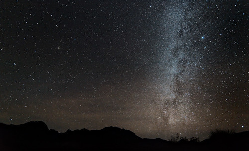 The Milky Way over the Chisos Mountains
