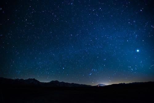 Venus and The Night Sky Over Mammoth
