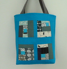 blue *trimmings* tote