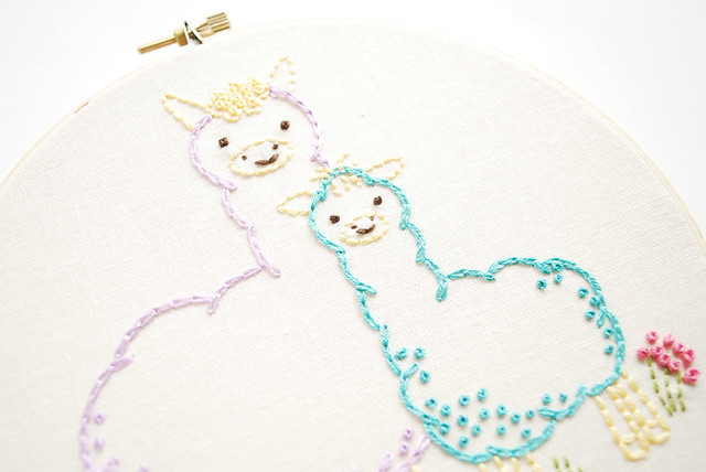 Alpaca embroidery