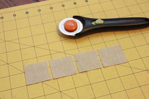 "Step 3: Cut the strip of color A/light 1 1/2"" X 6 1/2"" into quarters"