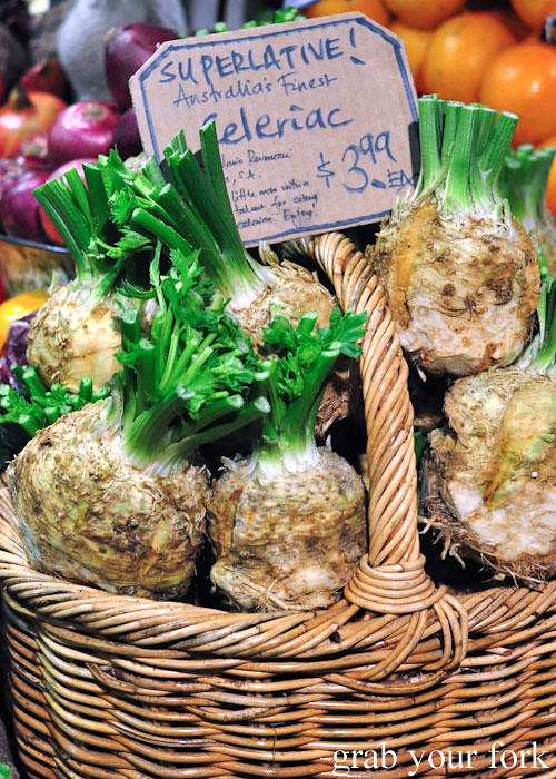 Celeriac at Adelaide Central Market