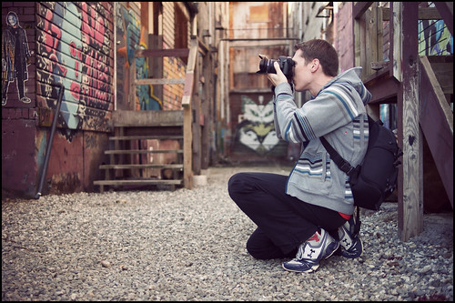 Shooting graffiti with Chris