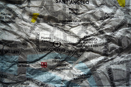 Crumpled City Map - Rome