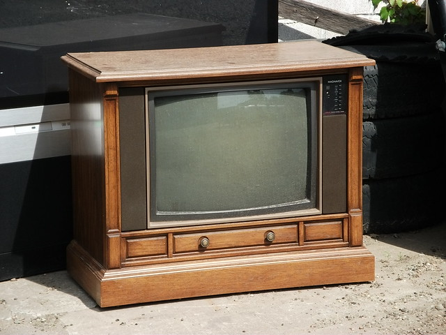 Old magnavox console tv left to die flickr photo sharing
