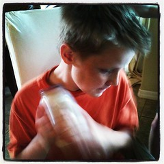 #homeschool project of the day: Makin Butter! #homemade #kidsinthekitchen
