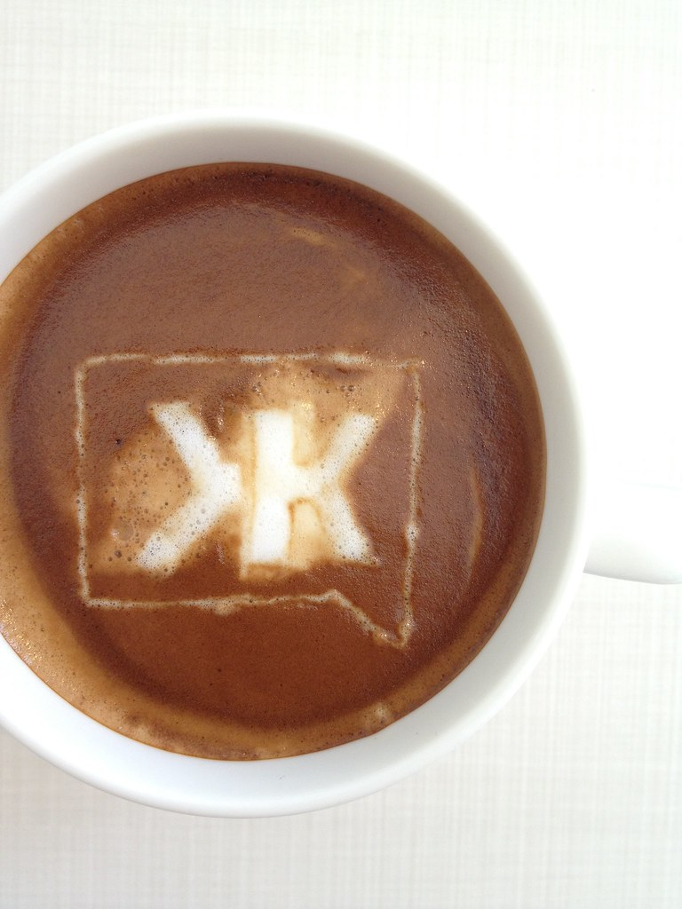 Today's latte, Klout.