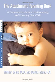cover of the attachment parenting book, showing a white baby looking out at the camera