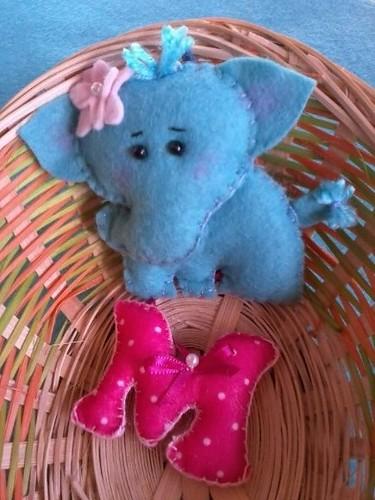 Chaveirinho elefanta. by ♥Paninhos em forma de amor♥