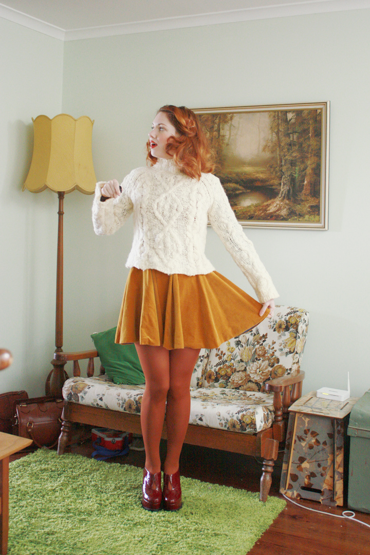 mustard velvet vintage and jumper d
