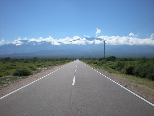 Road outside Cafayate, Argentina