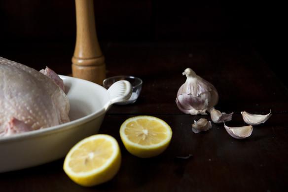 salting roast chicken