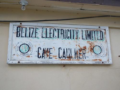 Belize Electricity Limited Caye Caulker sign