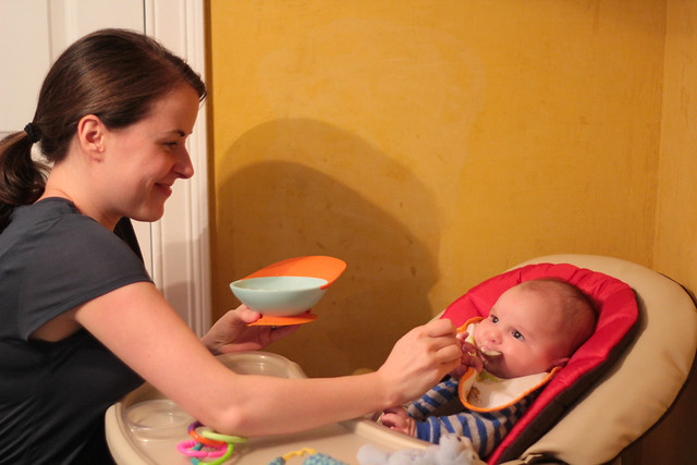 Noah's first solids
