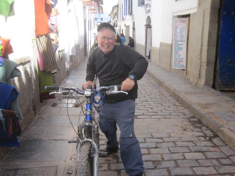 Aggressive Biker Cusco Peru