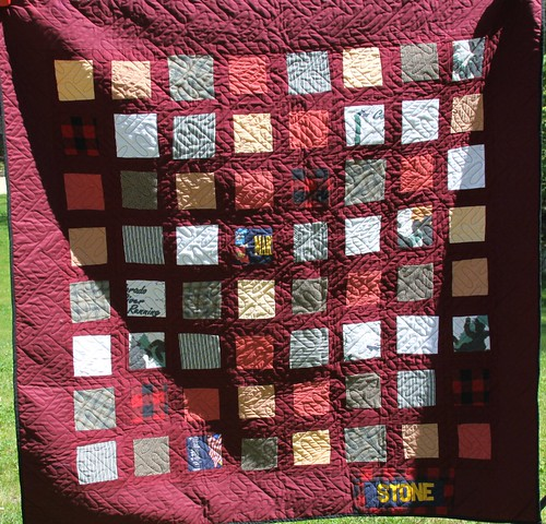 Custom Quilt Made From Clothing!