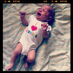 She's even cute when she cries!