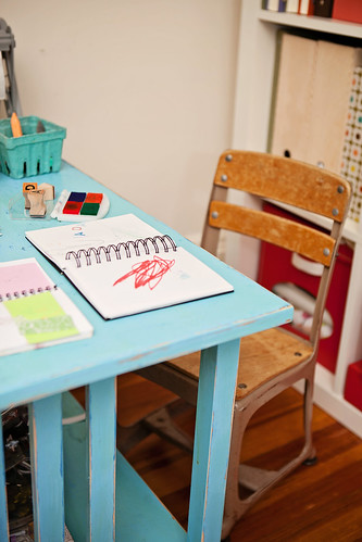 her desk in my studio