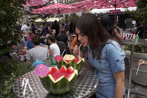 Asia Dog Watermelon Soju Cocktail.