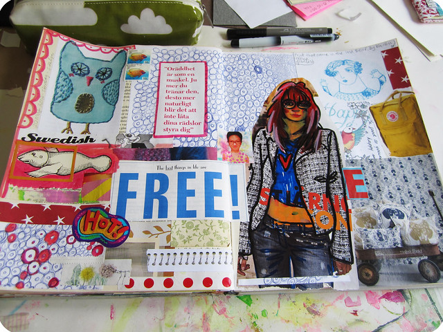 Art journal peek: home of random things