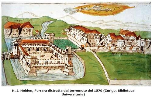"""ITALIA - EMERGENZA EMILIA: Scritto da  Emanuela Guidoboni e Marco Folin, """"Terremoti a Ferrara e nel suo territorio (...), - La sequenza sismica del 1570-74: un evento importante per la storia della città,"""" in: FERRARA - Voci di Una Citta`, N. 33 / 2010."""