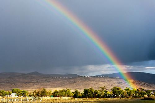 rainbow in sparks
