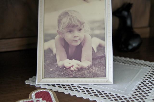 Observera att jag var blond som liten, och att det är min gamla pärlplatta som skymtar längst ner i bild.