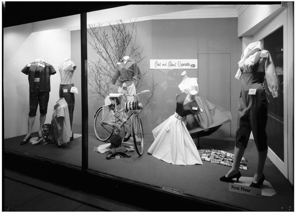 Fenwick's window display, Newcastle 1958