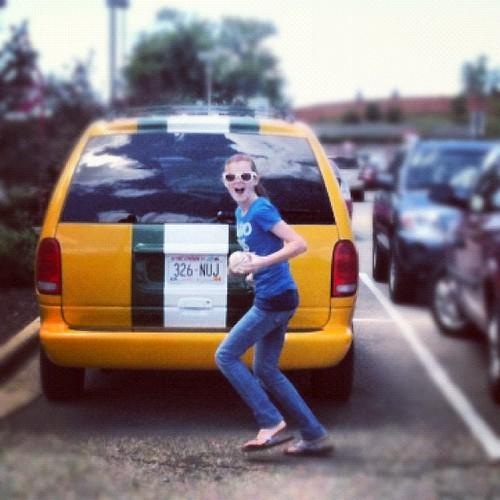 Photobomb the Packer Van
