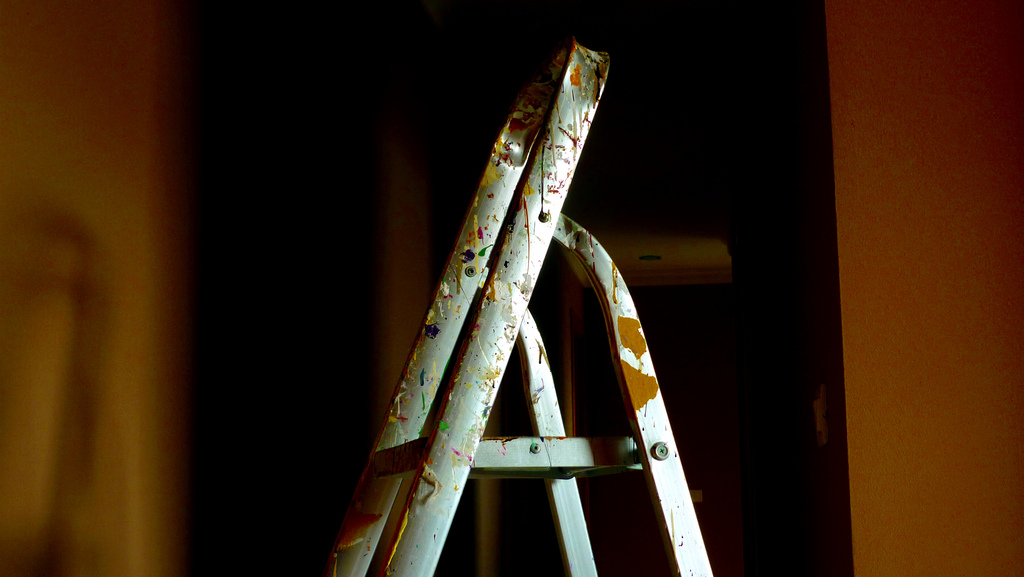Stepladder close-up