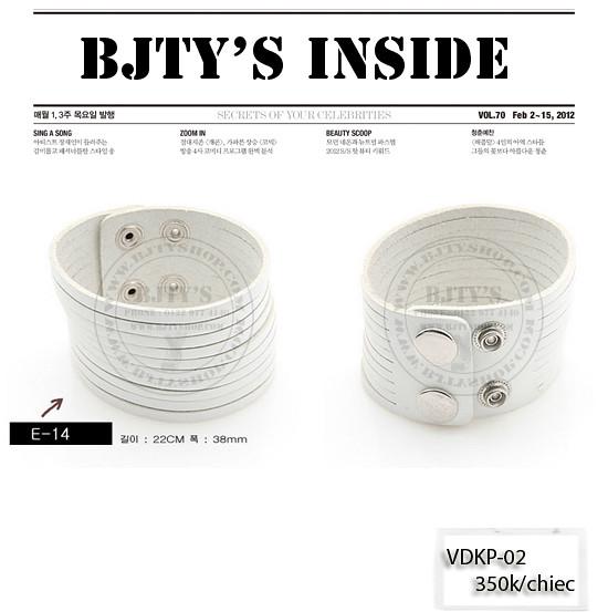 Vòng da đeo tay Hàn Quốc - Vòng đeo tay nam - Nhẫn Tiffany 9.25