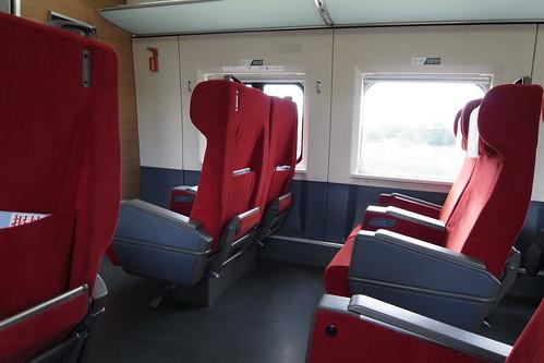中国高速鉄道CRH380A型電車。車内。