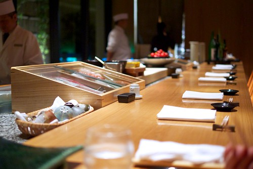 Sushi counter at Hyatt Regency Hakone